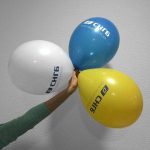 Воздушные шары с логотипом для Сургутнефтегазбанка. Шелкография
