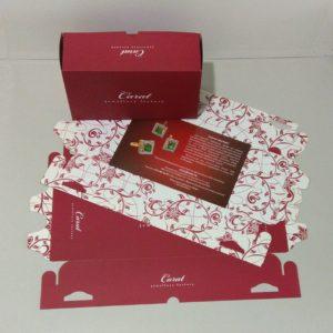 Подарочная коробка из двух частей. Картон, офсетная печать, матовая ламинация, вырубка